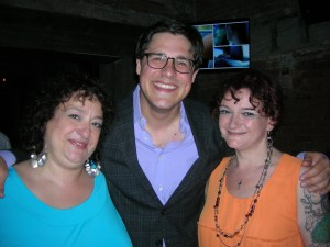 Rich Sommer flanked by the Lipp Sisters