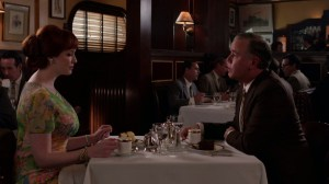 Mad Men, Tale of Two Cities, Joan has lunch with Andy from Avon