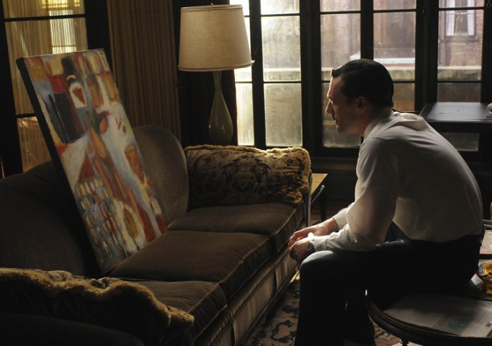 Don stares at the painting