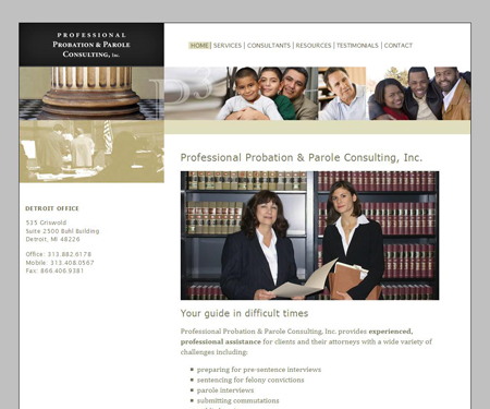Probation and Parole Consulting website