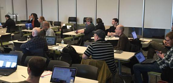 Members of our Metro Detroit WordPress meetup group