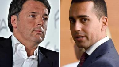 La combo, realizzata con due immagini di archivio, mostra Matteo Renzi (S) e Luigi Di Maio. ANSA