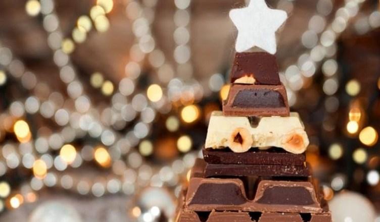 albero natale cioccolato