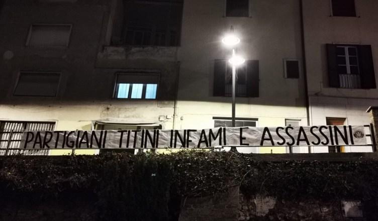 Giorno Ricordo striscioni CasaPound Frosinone