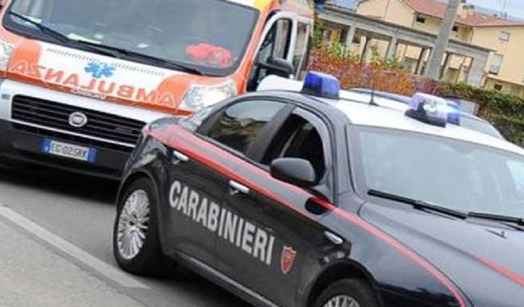 carabinieri e ambulanza....