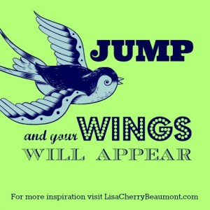 jump & your wings will appear