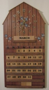 photo of hand-painted March calendar