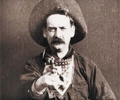 """Still shot from """"The Great Train Robbery"""" (1903)"""
