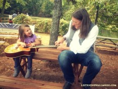 Jim is teaching the next generation how to play guitar. Isn't that a sweet picture?