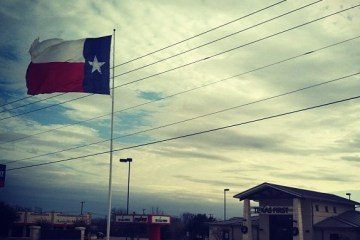 Texas flag and Texas First
