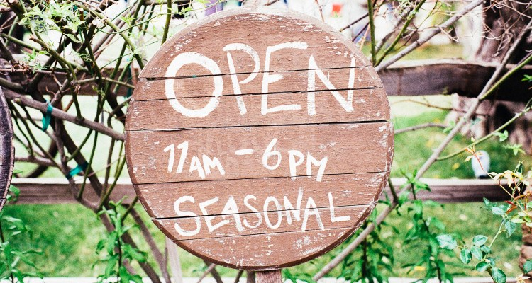 Seasonal Open Sign