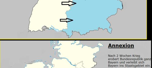 Sezession und Annexion als Schaubild