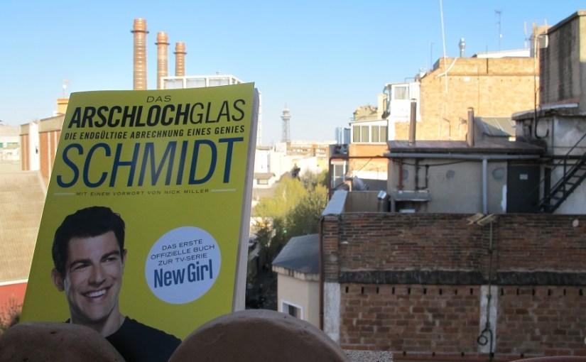 Hier sieht man das Buch Arschlochglas in Barcelona