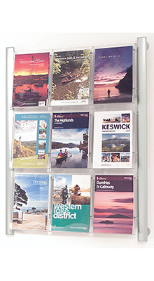 Wall Mounted Brochure Holders   9 Pocket A4 Brochure Holder   Wall     Wall mounted Brochure Holders   9 Pocket A4 Brochure Holder   Wall Mounted
