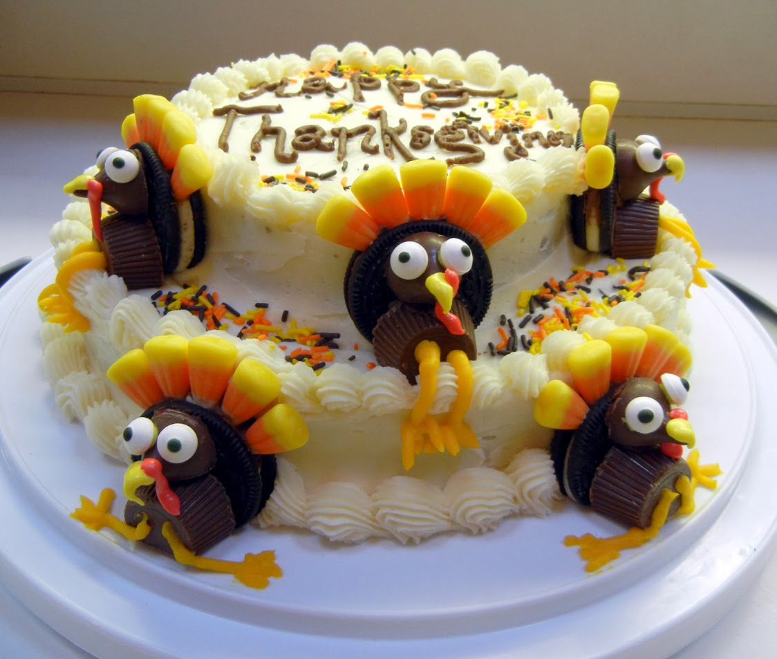 Thanksgiving Cakes     Decoration Ideas   Little Birthday Cakes Thanksgiving Cake Ideas
