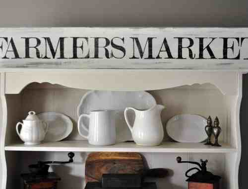 DIY Farmers Market Sign