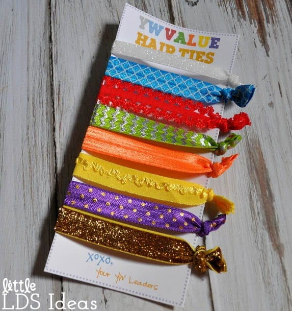 YW Value Hair Tie tutorial and printable