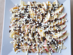 s'mores apple nachos.