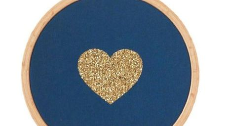 cadre-coeur-bleu-canard-et-dore