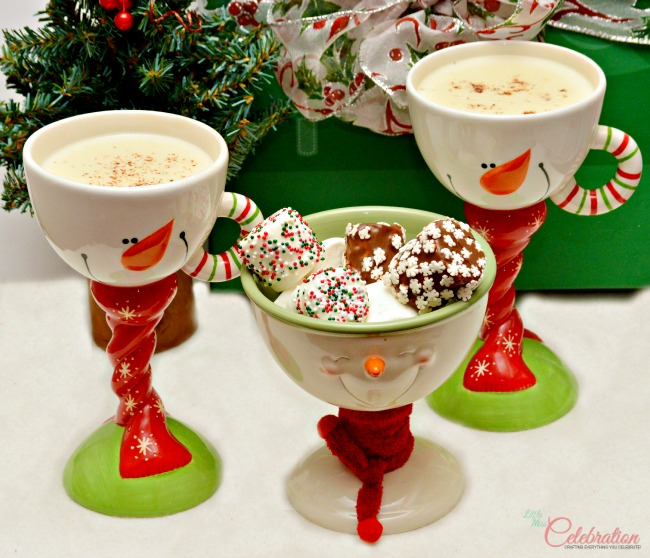 Sugar Cookie Hot Vanilla with Candied Marshmallows-try the sugar cookie flip side of hot chocolate! At littlemisscelebration.com