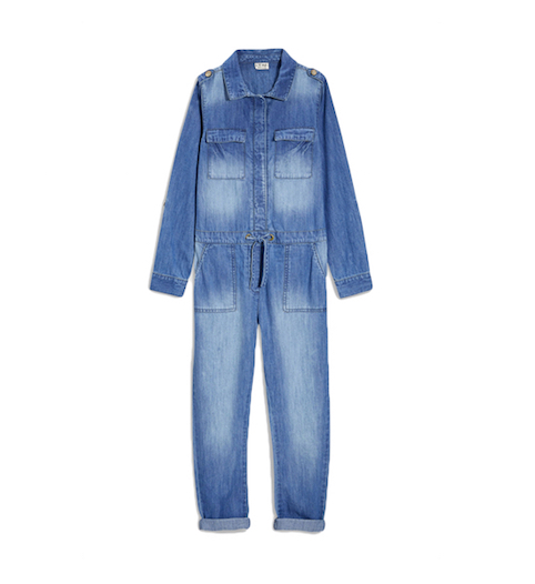 Little Spree - girls denim jumpsuit