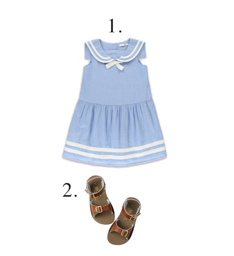 M&S sailor pure cotton girls dress - Little Spree