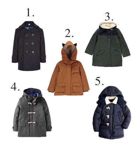 Little Spree stylish, warm boys winter coats