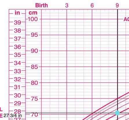 Jia 9 mo Length for Age