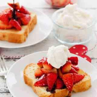 Balsamic Strawberry Brioche Toast