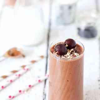 Skinny Chocolate Cherry Coconut Shake