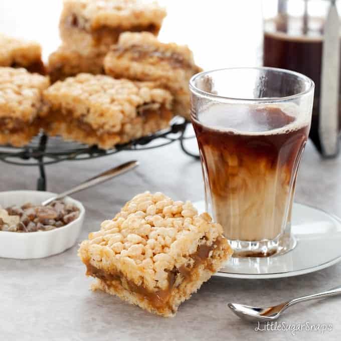Salted Caramel Pecan Krispie Treats