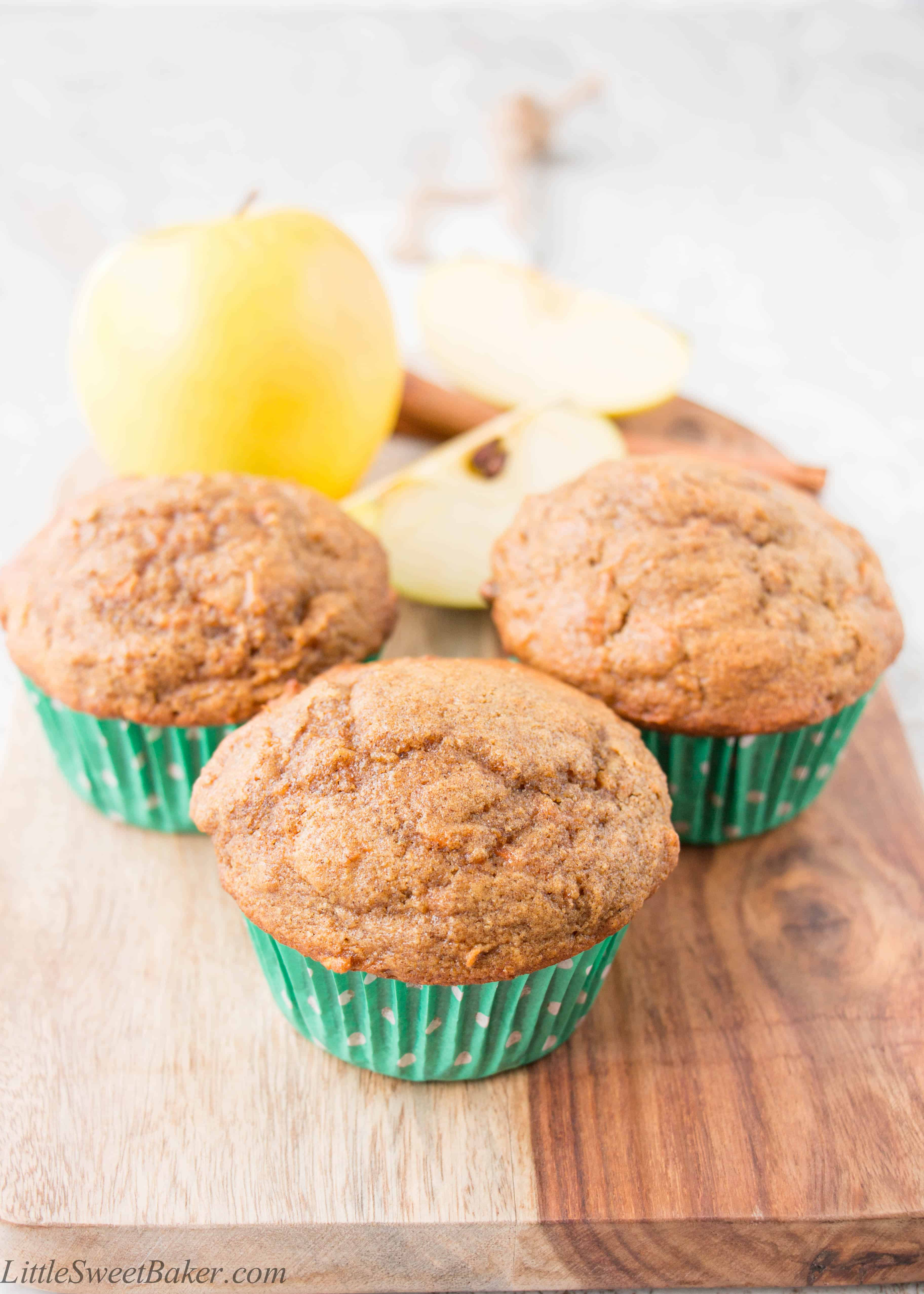 these muffins are loaded with fruits and veggies and are made with ...