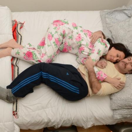 Ali C, profesjonalny przytulacz w Nowym Jorku ( zdjęcie ENID ALVAREZ / New York Daily News )