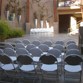 Courtyard Rotunda ceremony
