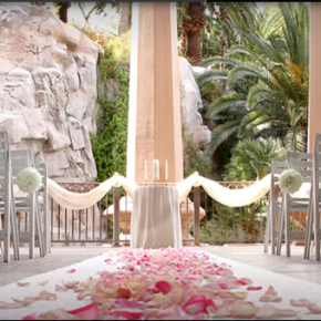Wedding venue: Valley of the Falls at Mandalay Bay