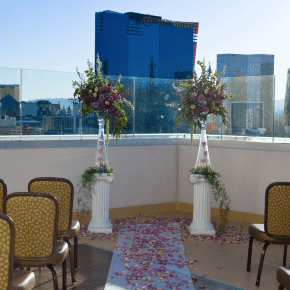 rooftop wedding vegas