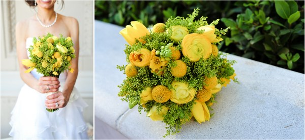 Yellow + Gray Joes Stonecrab Las Vegas Reception | JamieY Photog