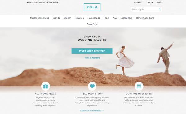 Modern Wedding Registry with Zola