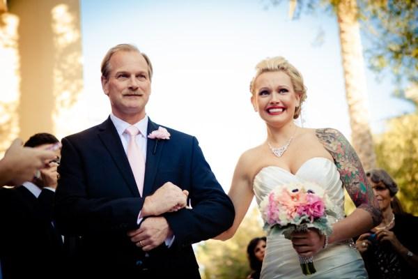 Garden wedding at JW Marriott Las Vegas from Kristin Long Photography