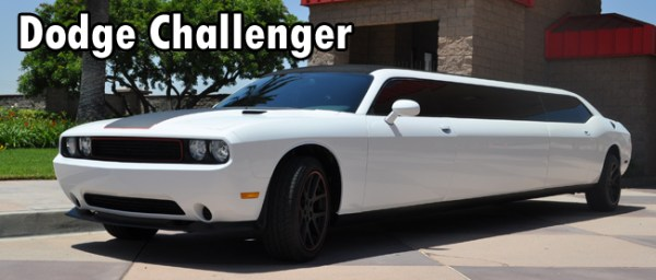 Dodge Challenger Limo | Unique Las Vegas Wedding Transportation | Little Vegas Wedding