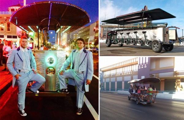 CyclePub | Unique Las Vegas Wedding Transportation | Little Vegas Wedding