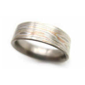 Metal Wood Print Ring | 28 Unique Wedding Rings for Men