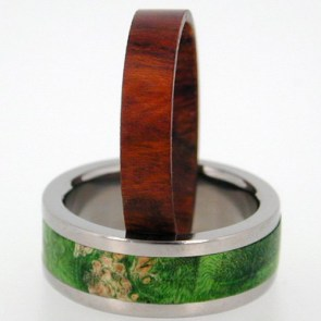 Wood Inlay Men's Wedding Ring | 28 Unique Wedding Rings for Men