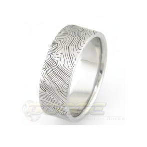 Topographic Map Wedding Ring | 28 Unique Wedding Rings for Men