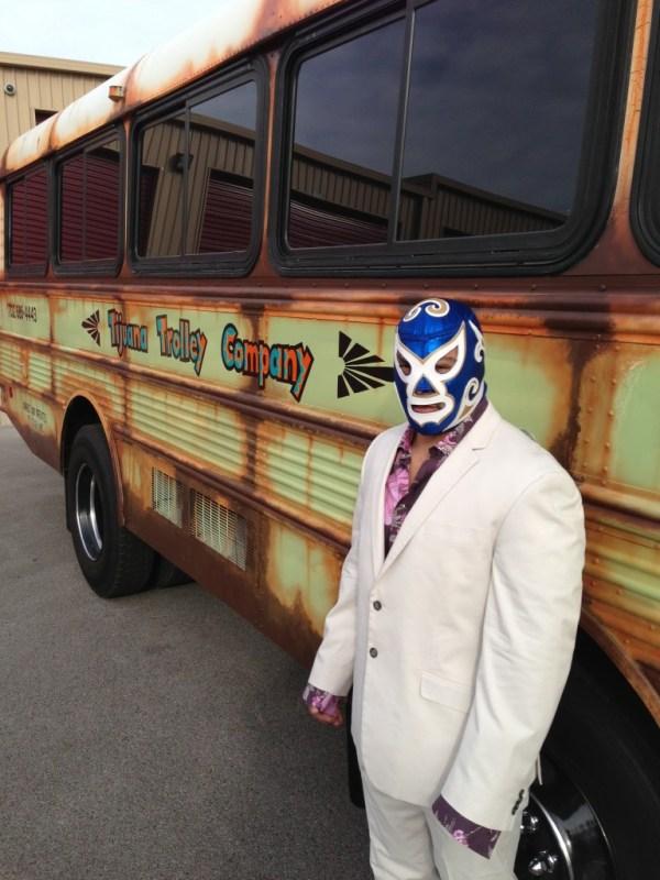 Tijuana Trolley | Unique Las Vegas Wedding Transportation | Little Vegas Wedding