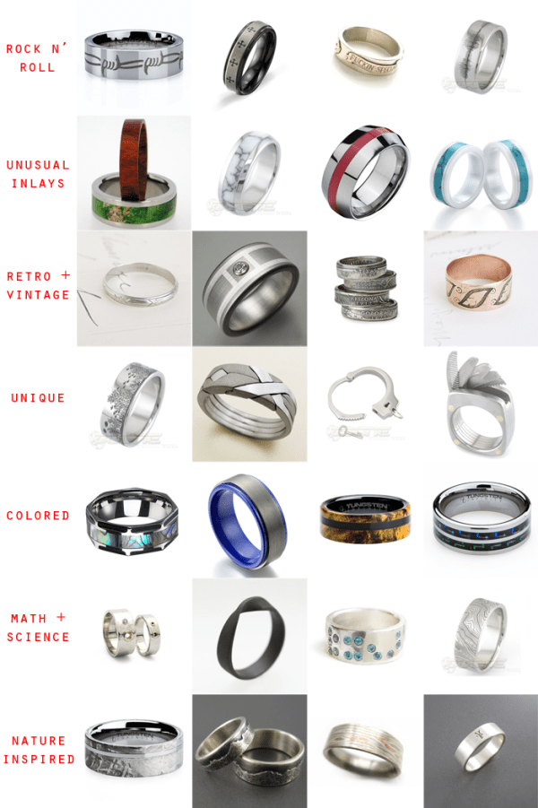 28 Unique Wedding Rings for Men | Little Vegas Wedding