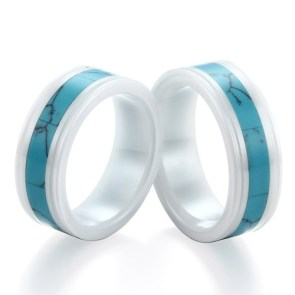 Turquoise Ceramic Men's Wedding Ring | 28 Unique Wedding Rings for Men
