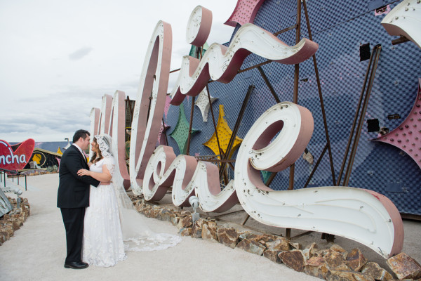 Neon Museum Wedding | Little Vegas Wedding