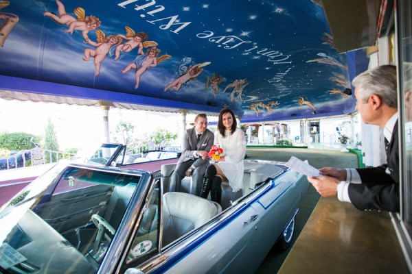 funky fresh drive thru wedding in vegas the amberlight