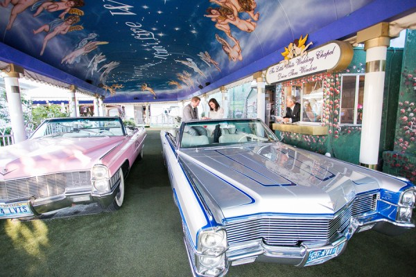 Funky Fresh Drive Thru Wedding In Vegas
